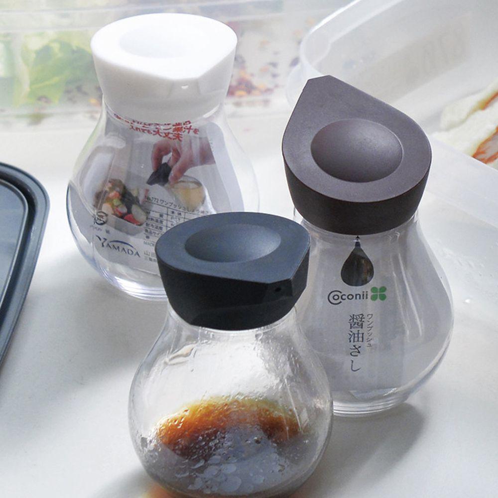 日本山田YAMADA - 按壓定量式PET油醋醬料分裝瓶-140ml-3入組(三色)