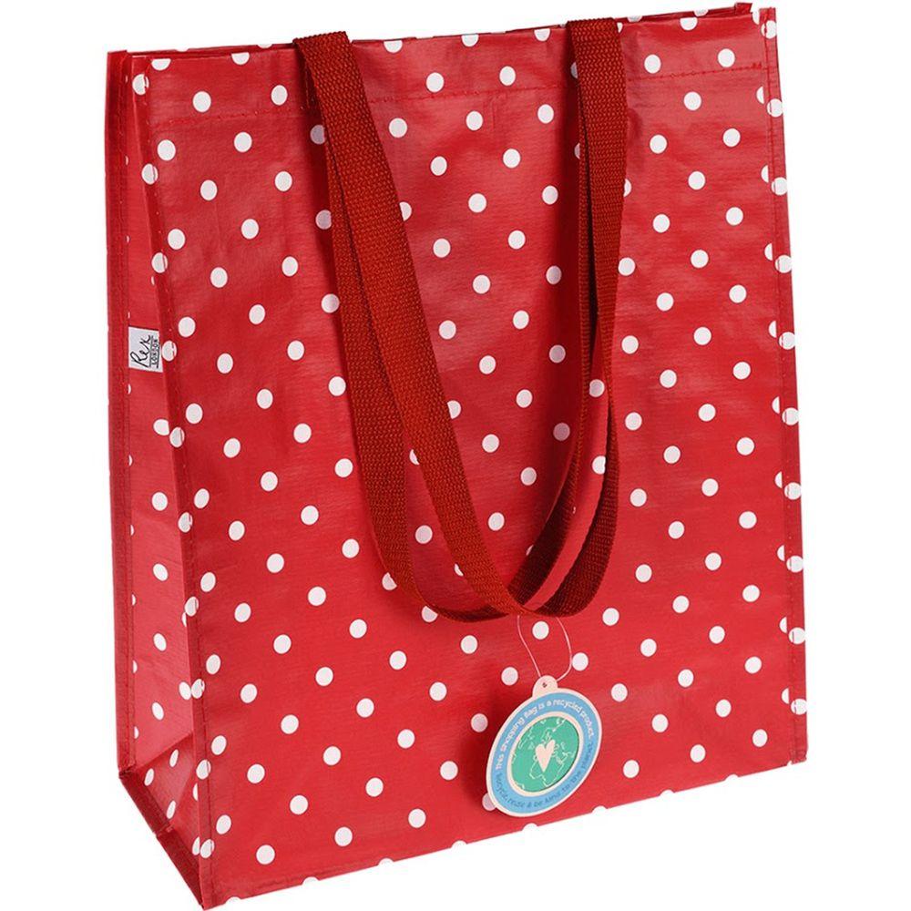 英國 Rex London - 環保多功能購物袋/萬用袋-紅底白點