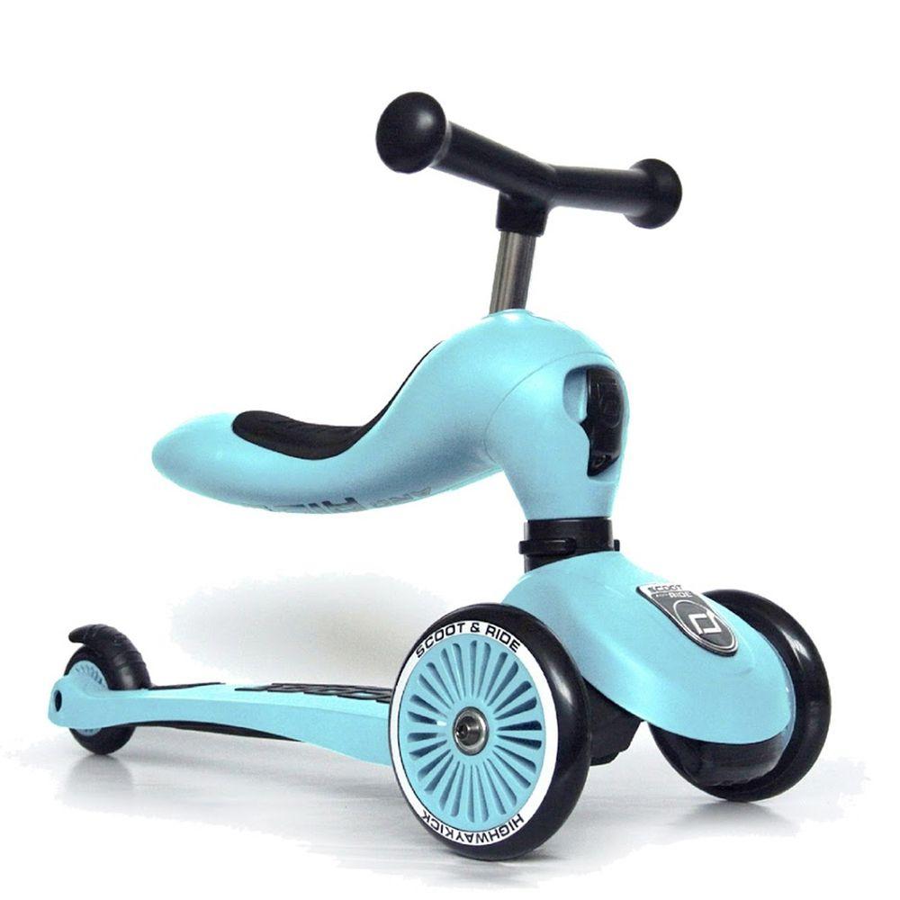 奧地利 Scoot & Ride - Cool飛/二合一滑步車-藍莓