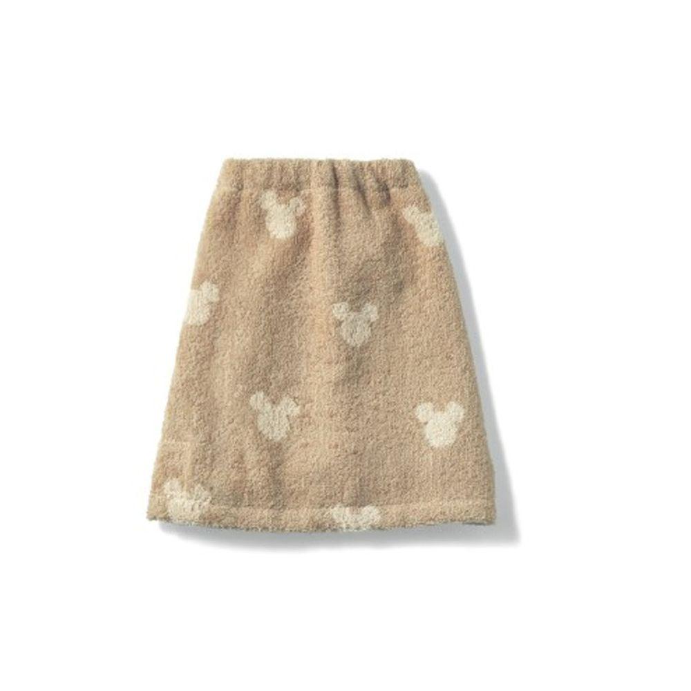 日本千趣會 - 迪士尼毛巾圍兜2件組-米奇頭-杏色系 (短(34x27cm))
