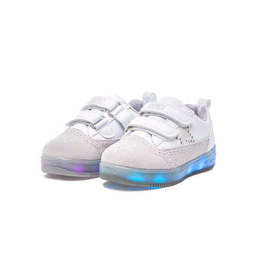 韓國 BESSON JOUJOU - 新款 LED 閃亮星星親子鞋/寶貝鞋-白