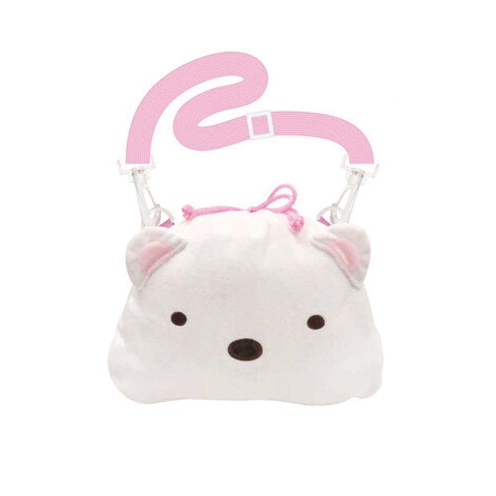 日本代購 - 角落生物 束口側背包-白熊 (30x26cm)