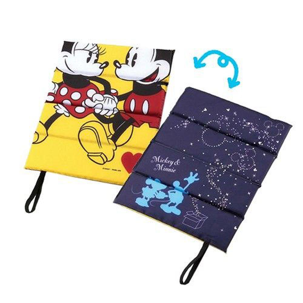 日本CAPTAIN STAG - 迪士尼單人折疊坐墊(1cm厚)-米奇與米妮的星空 (34×27.5cm)