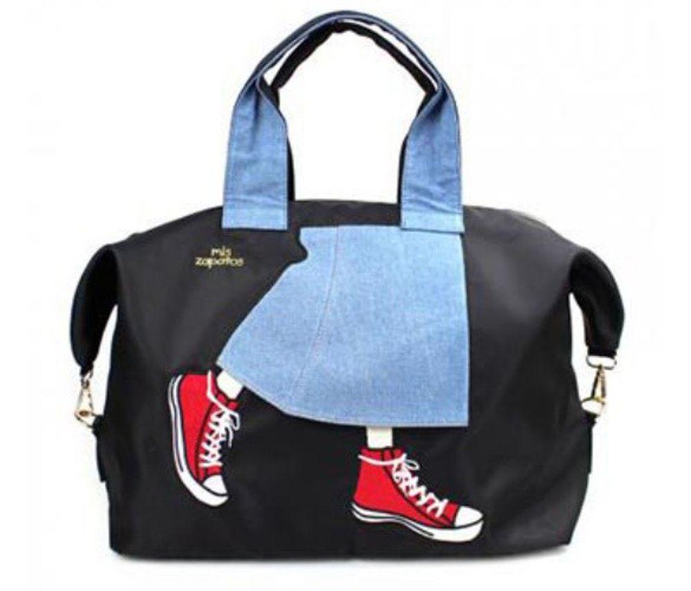 mis zapatos - 旅行款美腿包(尼龍)-牛仔裙-BK黑色 (36*41*20cm)