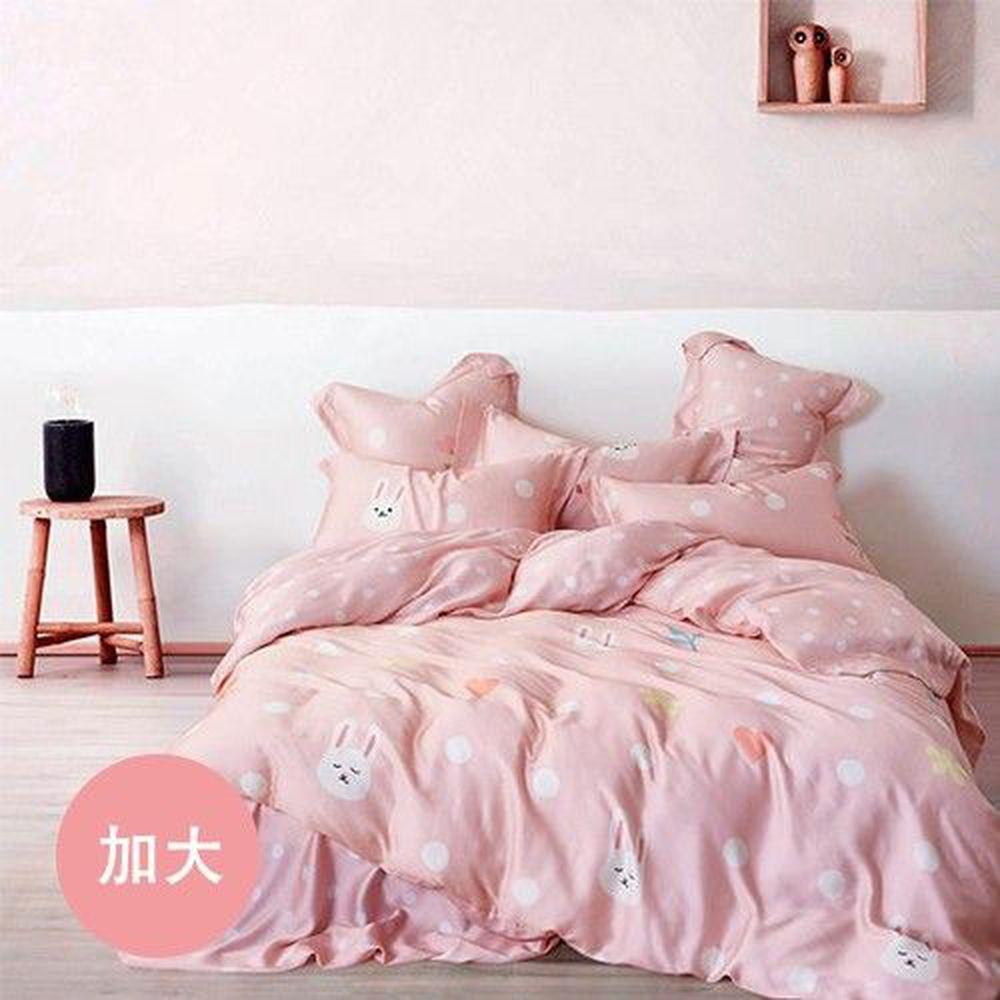 PureOne - 天絲系列.TENCEL寢具組-可愛精靈-加大四件式床包鋪棉被套組
