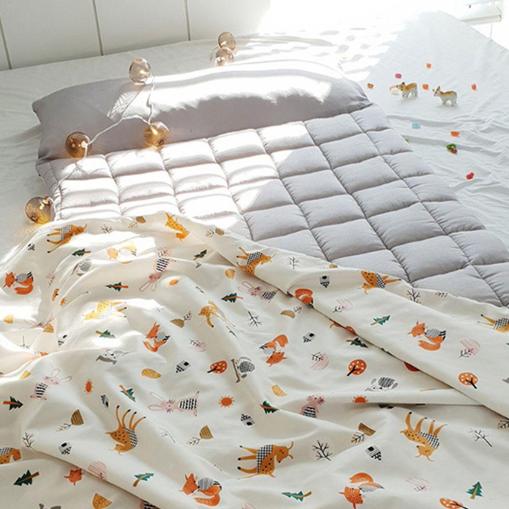韓國 Formongde - 5cm厚墊雙面用睡袋/寢具(附收納袋)-可愛小動物