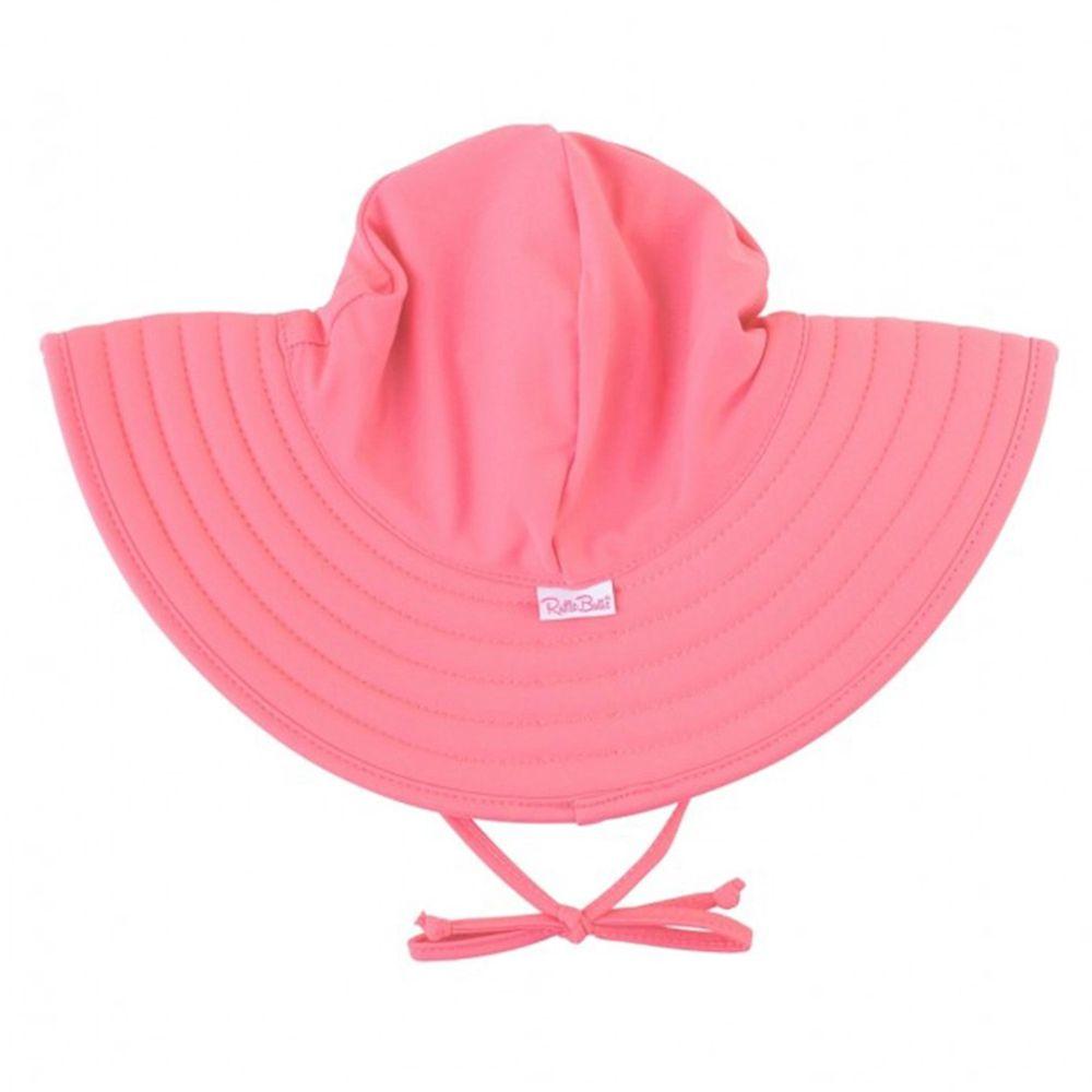 美國 RuffleButts - 嬰幼兒UPF 50+防曬遮陽帽-玫瑰紅