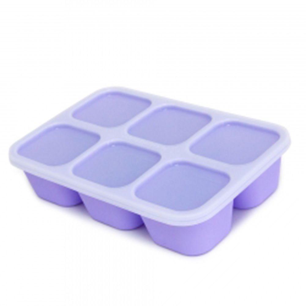 MARCUS&MARCUS - 動物樂園造型矽膠副食品分裝保存盒-紫色