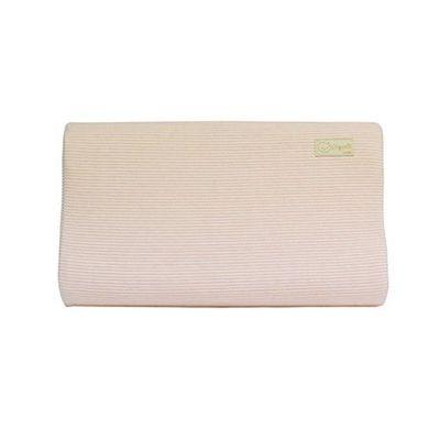 有機棉兒童護頸乳膠枕-經典條紋系列-溫暖粉 (50x30x9cm)-6個月起