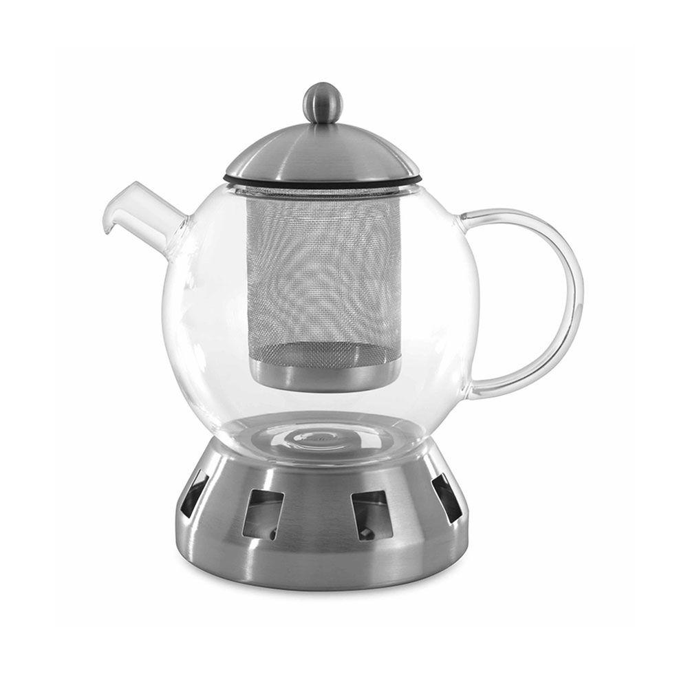 比利時 Berghoff - Essentials-不鏽鋼濾茶網茶壺1.3L(含加熱底座)
