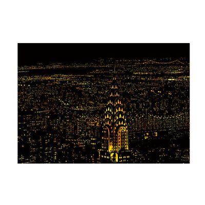手刮城市金色夜景刮畫紙-紐約