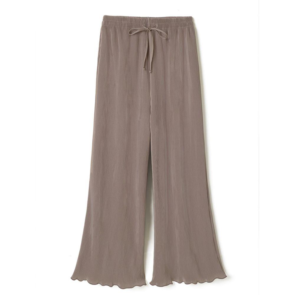 日本 GRL - 慵懶垂墜羅紋寬褲-摩卡棕
