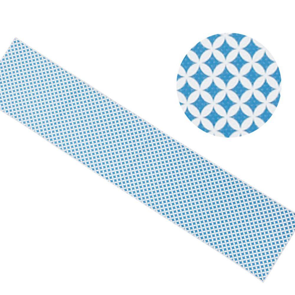 日本丸和 - 和柄小江戶水涼感巾(附收納袋)-七宝-藍 (20x100cm)