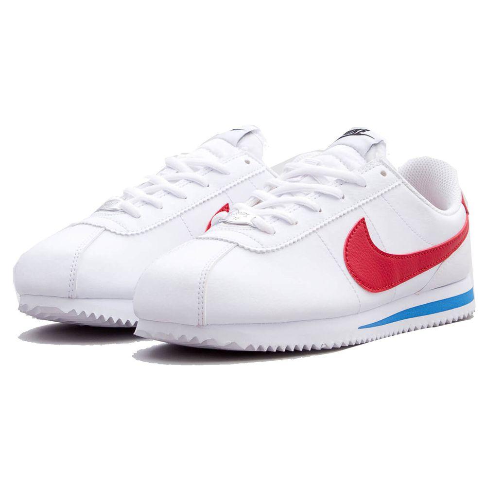 NIKE - Cortez GS 阿甘鞋(女)-白藍紅-剩24cm