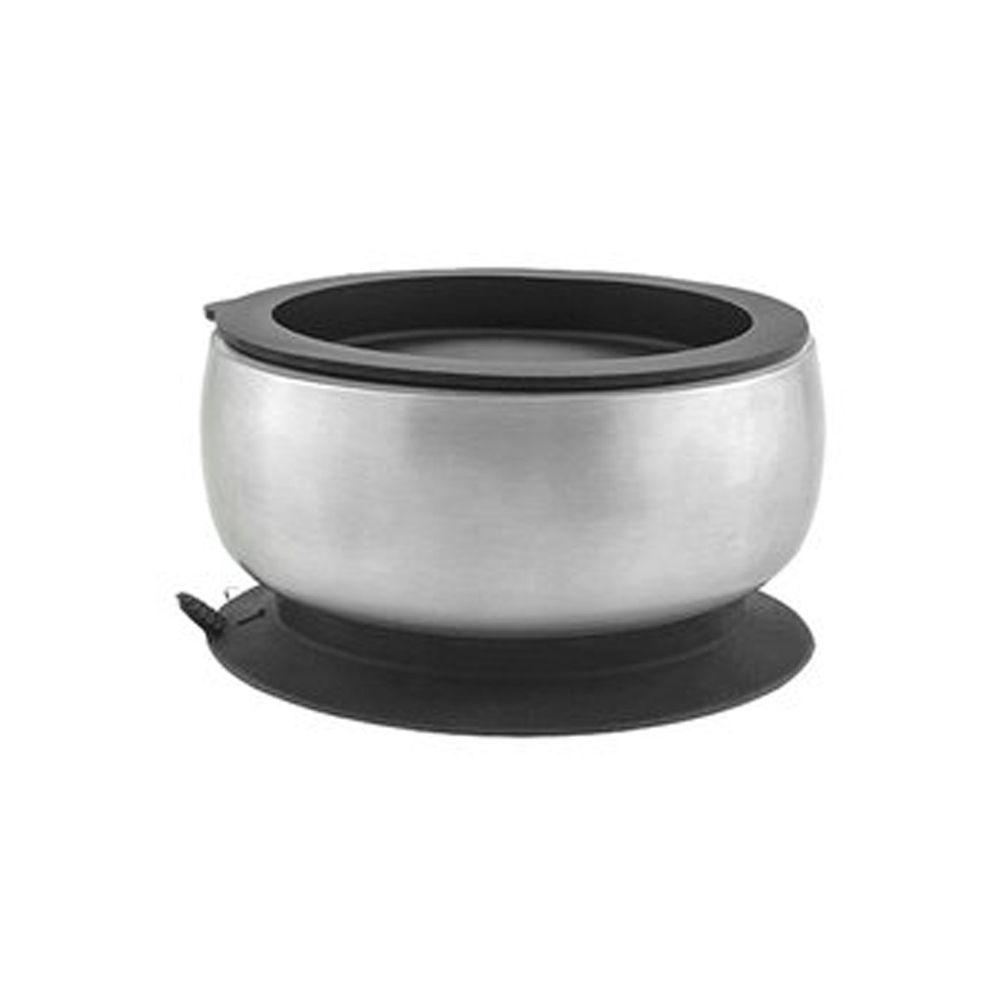 Avanchy - 雙層不鏽鋼-吸盤式餐碗-黑