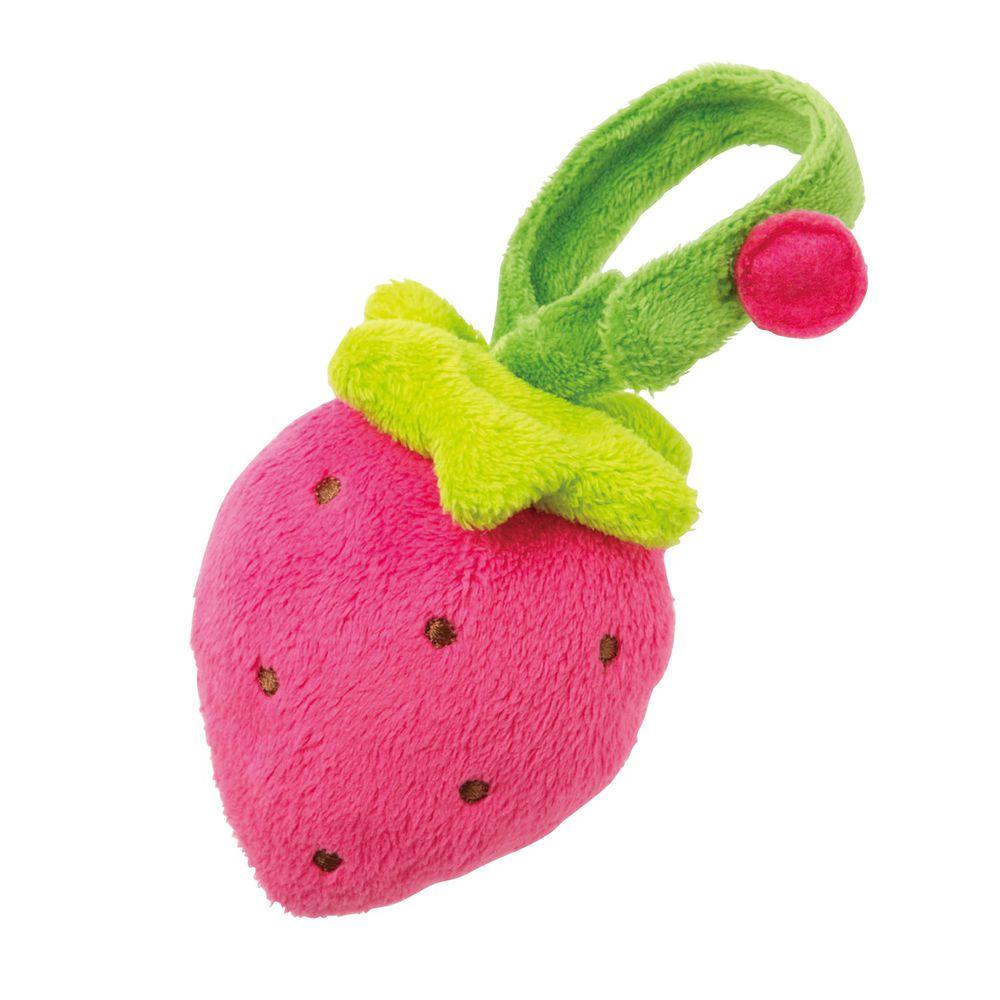 日本 Combi - 草莓布物手搖鈴-3個月以上