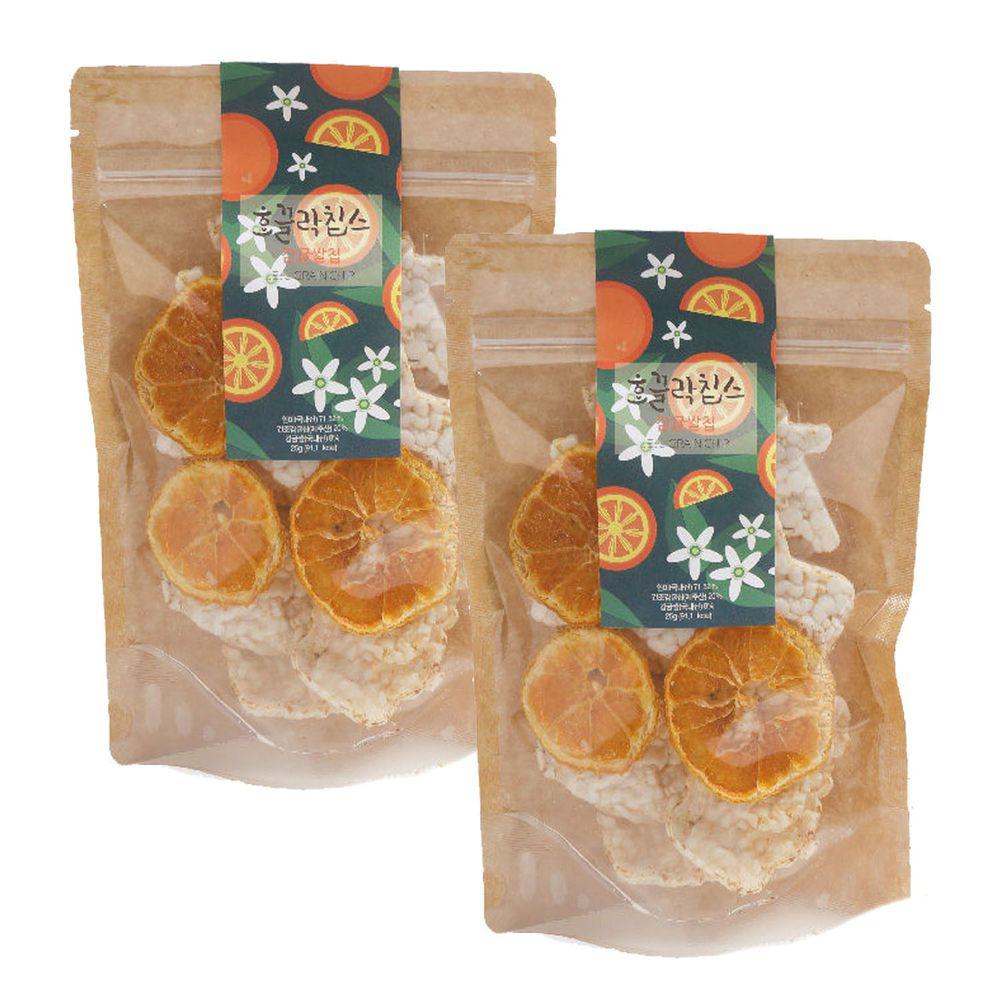 JejuMami 濟州媽咪 - 濟州純淨柑橘米餅脆片2入組