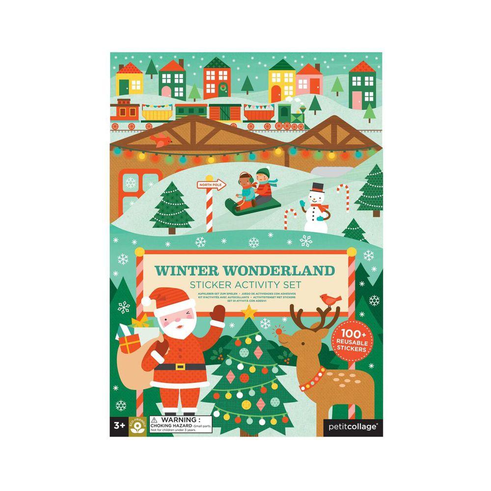 美國 Petit Collage - 貼紙書-冬季樂園