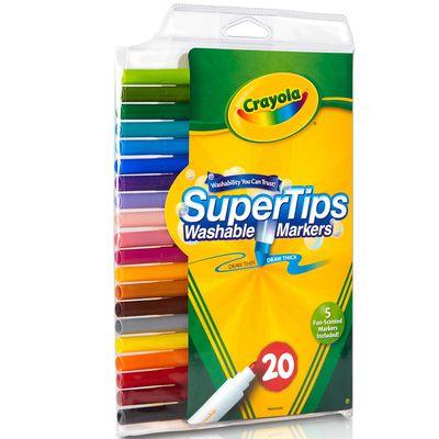 可水洗細桿彩色筆20色