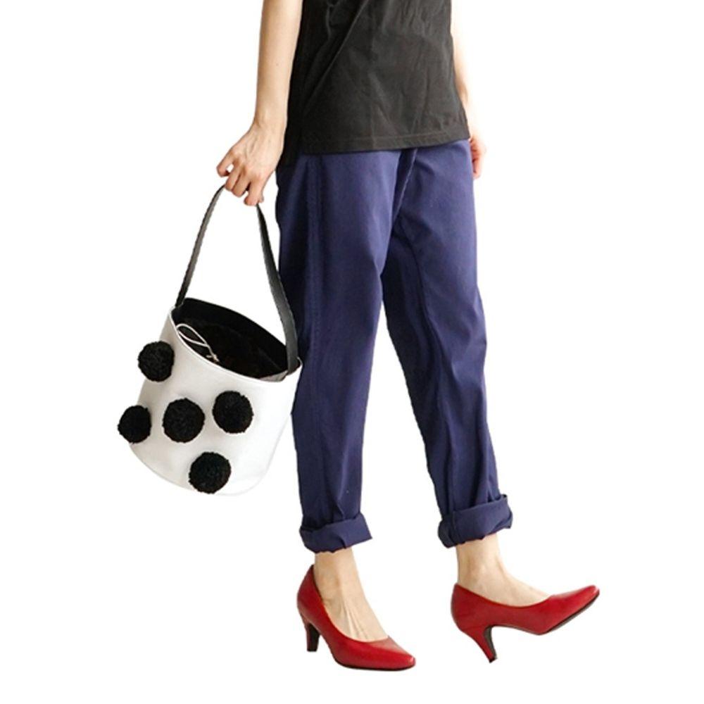 日本 zootie - (剩LL) Air Pants 輕薄彈性男友風寬鬆長褲-深藍