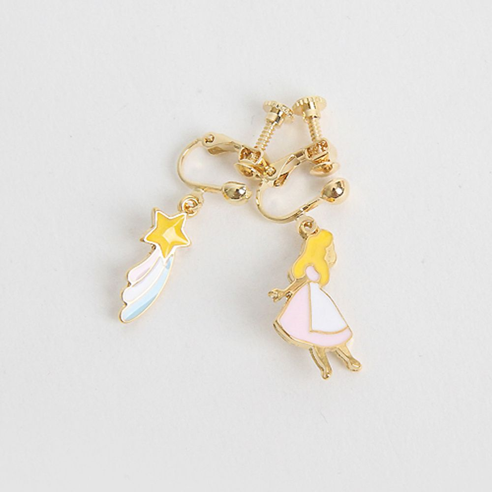 韓國 Babyblee - 童話耳夾-愛麗絲-粉紅