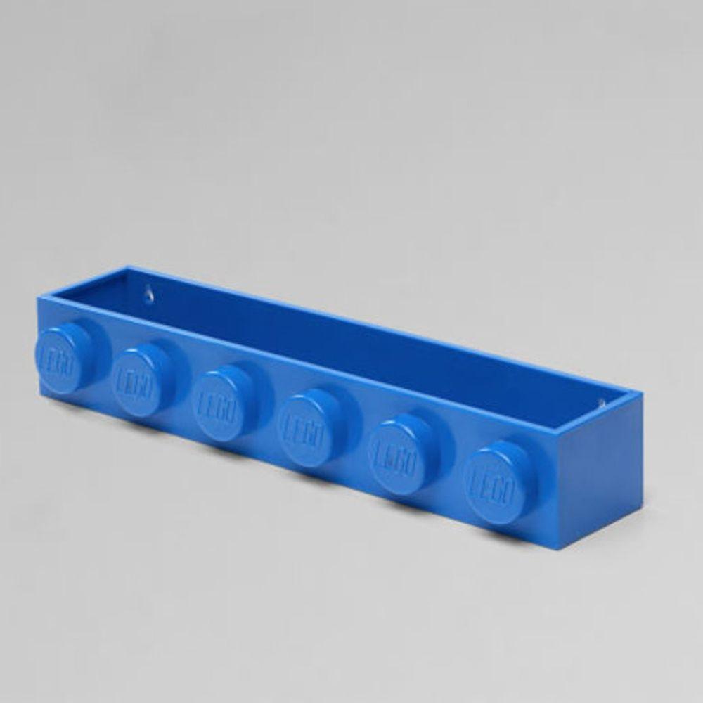 丹麥 Room Copenhagen - 丹麥LEGO 樂高造型書架-經典藍 (47.8 x 7.8 x 11.5 cm)