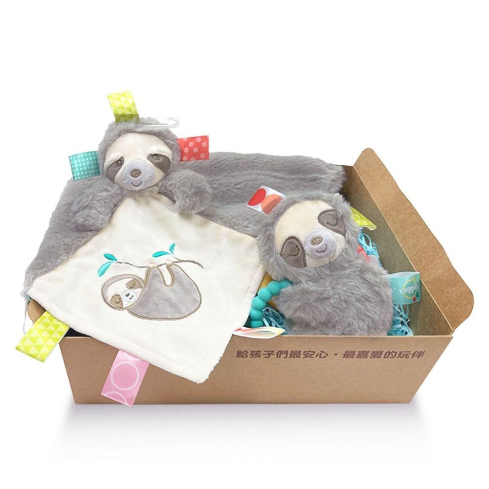 美國 MaryMeyer 蜜兒 - 樹懶經典禮盒(手搖鈴+安撫巾)