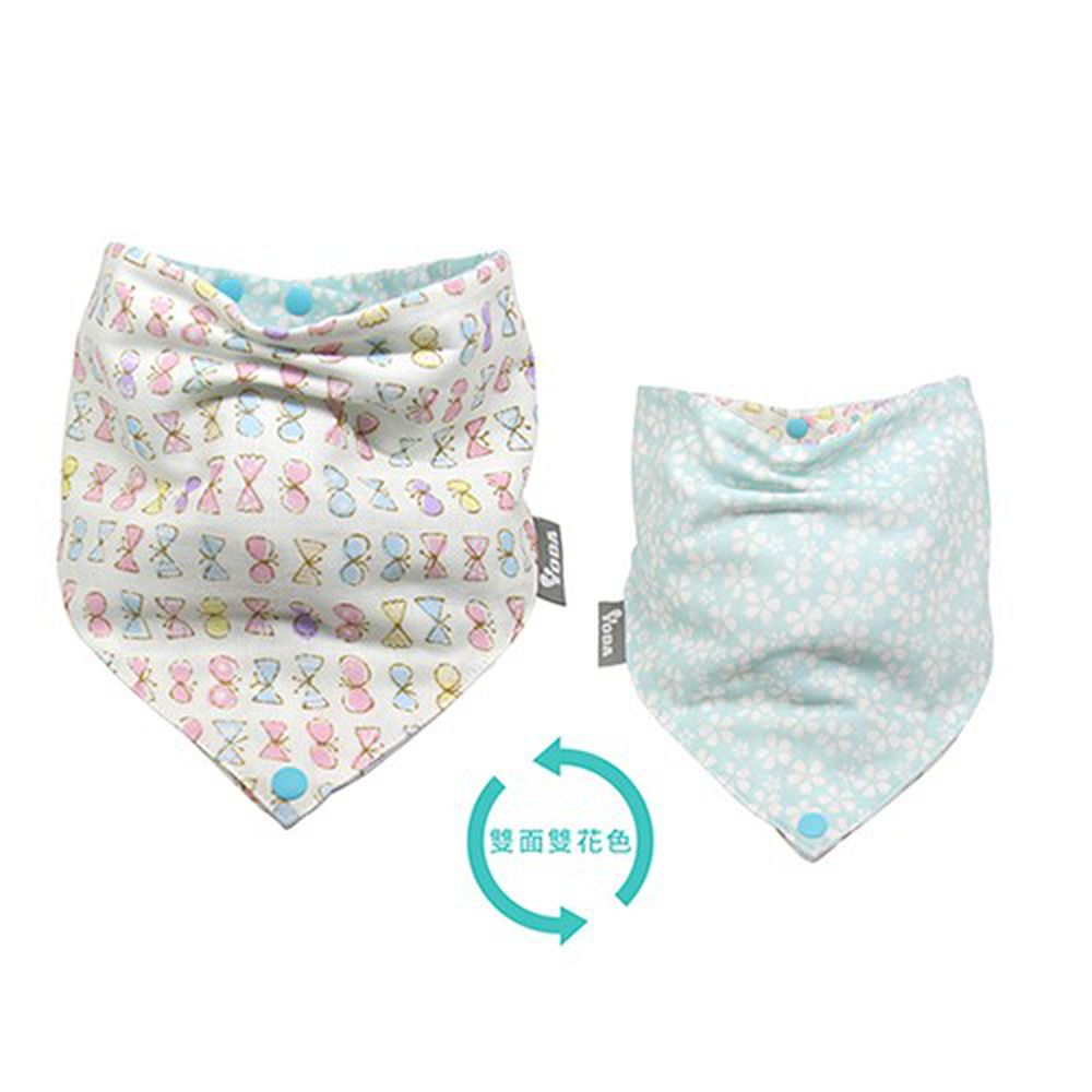 YODA - 和風透氣六層紗扣扣兜-馬卡龍蝴蝶