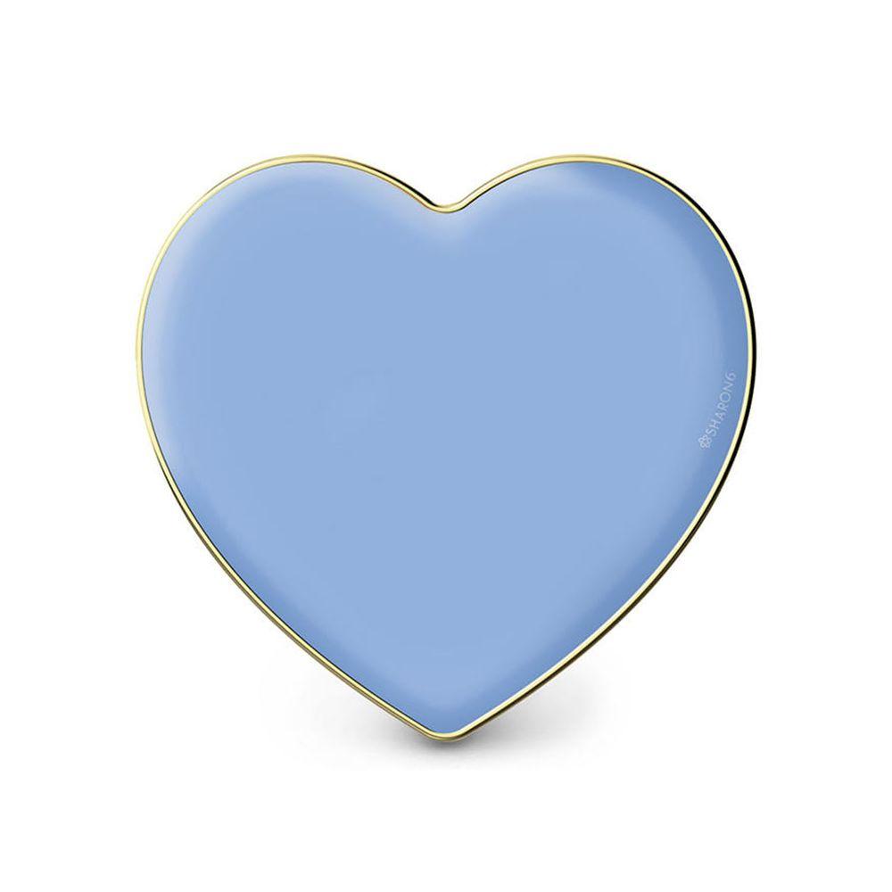 韓國 SHARON6 - 手機氣囊支架-愛心款-藍色愛心