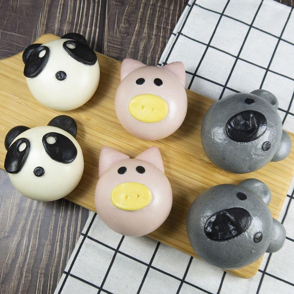 艾酷奇 - 最愛肉肉組-(6入/盒)-小豬(香蔥豬肉)*2 熊貓(香菇豬肉)*2 無尾熊(玉米豬肉)*2 (65g±5%)-團購專案