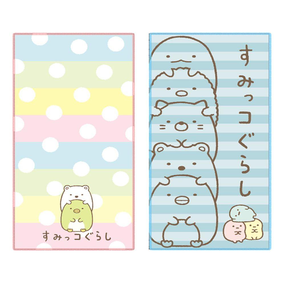 日本代購 - 長方形小手帕/毛巾兩入組-角落生物 (10×20cm)