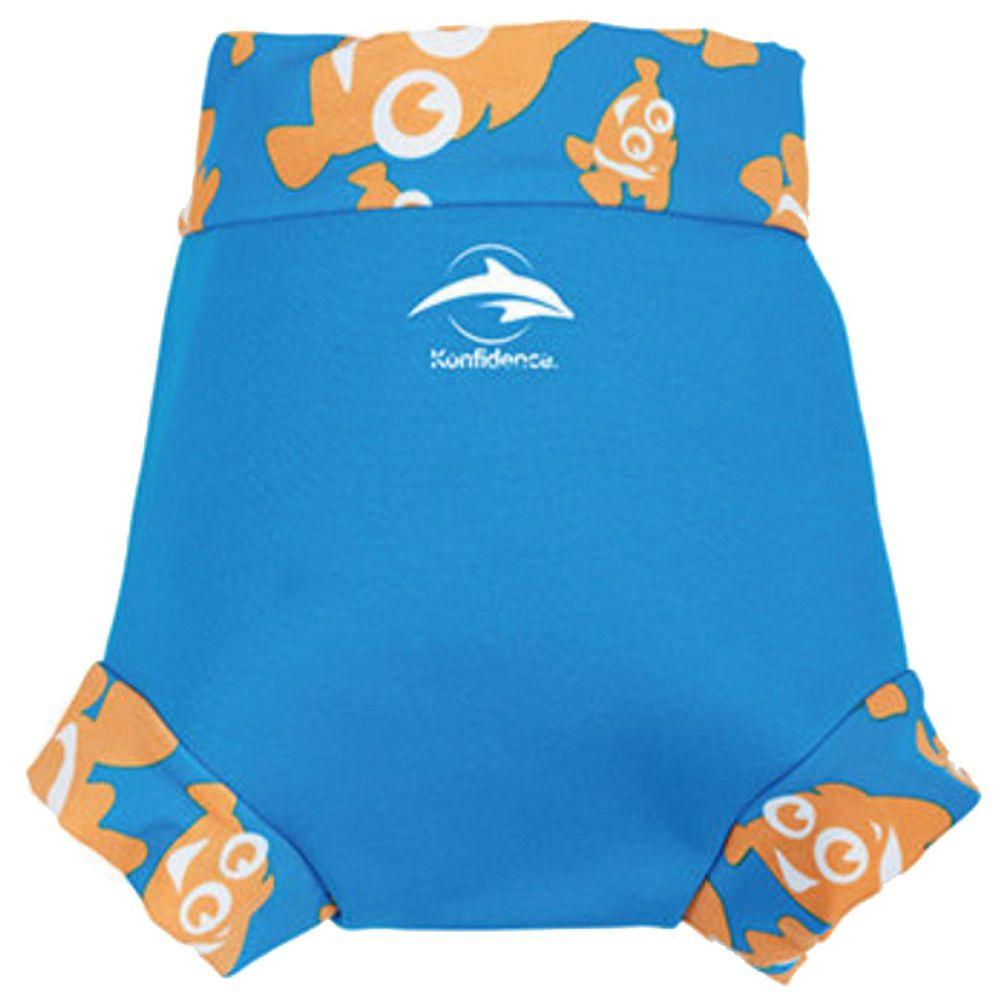 英國康飛登 - KF NEO Nappy 嬰兒游泳尿布褲(加強防漏層)-水藍/小丑魚