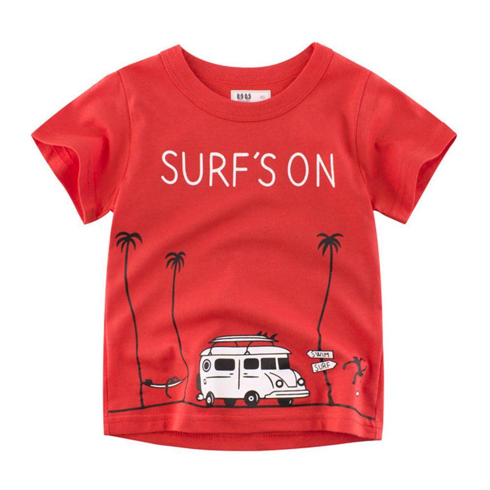 短袖棉T-海邊露營車
