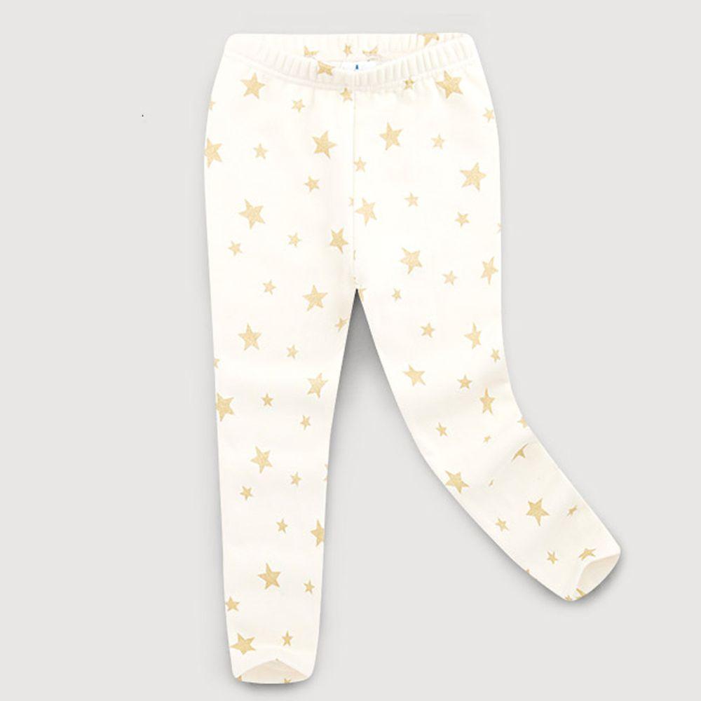 韓國 Jelispoon - (內刷毛)滿天星內搭褲-象牙白