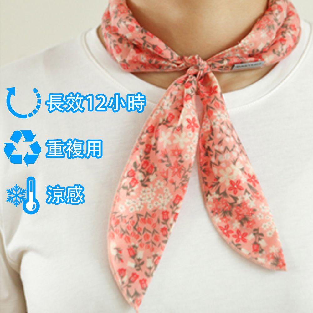 韓國 Daily Like - 沁涼長效涼感領巾-粉紅 (91x5 cm)