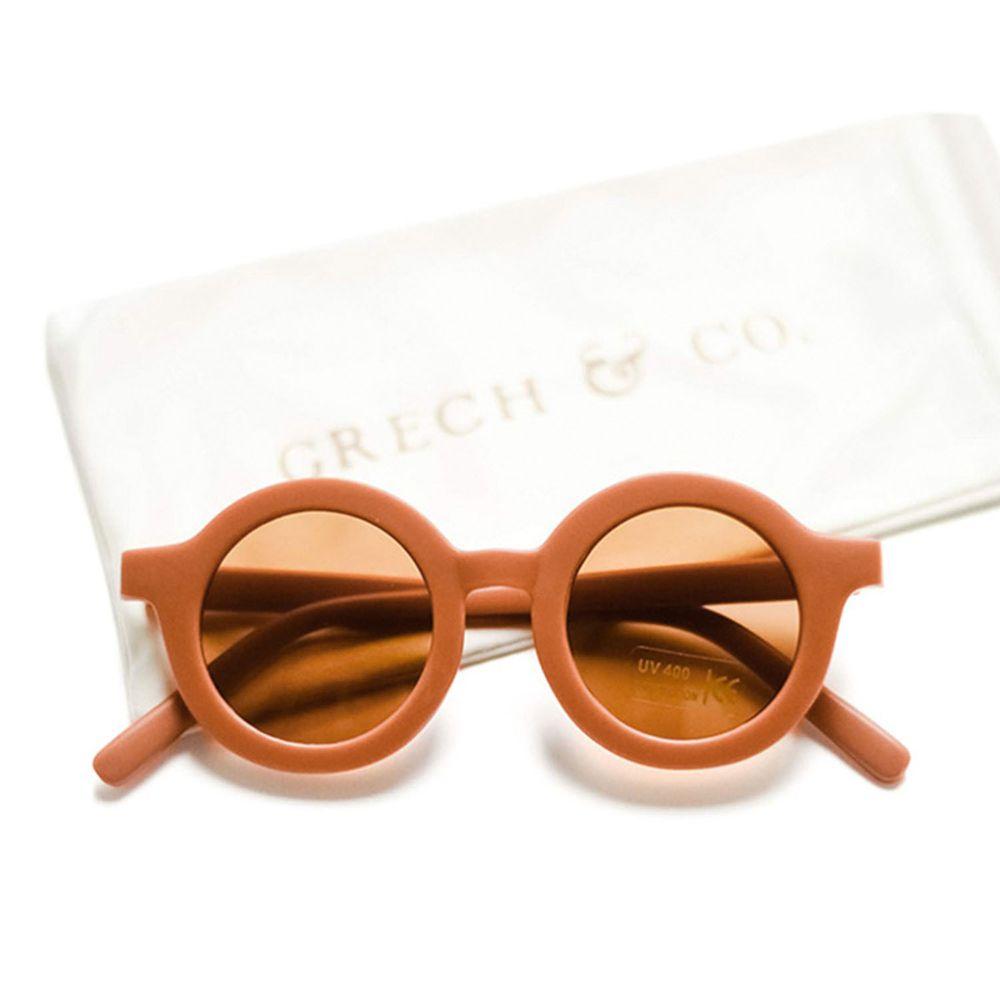 丹麥GRECH&CO - 兒童太陽眼鏡-經典款-緋紅-18個月至6歲