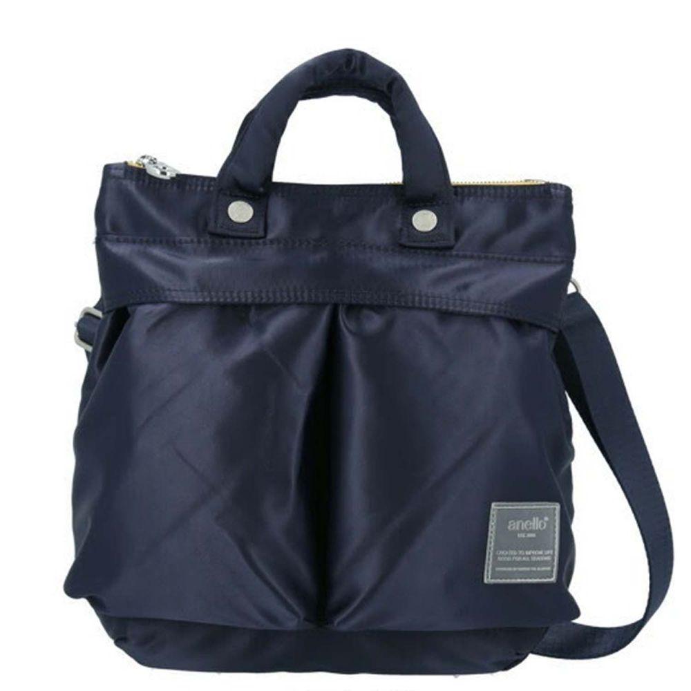 日本 Anello - 2way 高密度尼龍防潑水肩背包-海軍藍 (26cm×25.5cm×4.5cm)