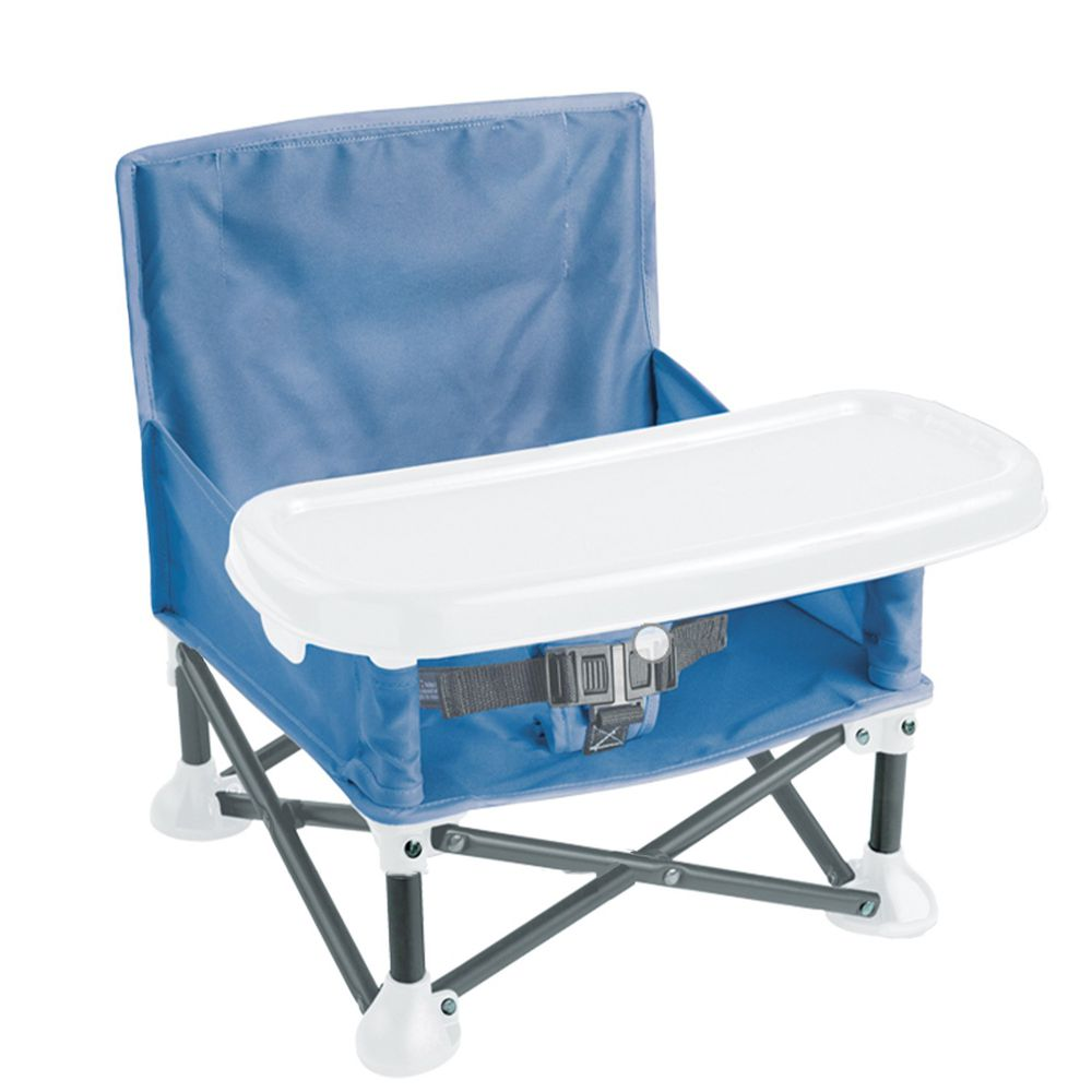 Summer Infant - 可攜式幼兒摺疊餐椅-藍色