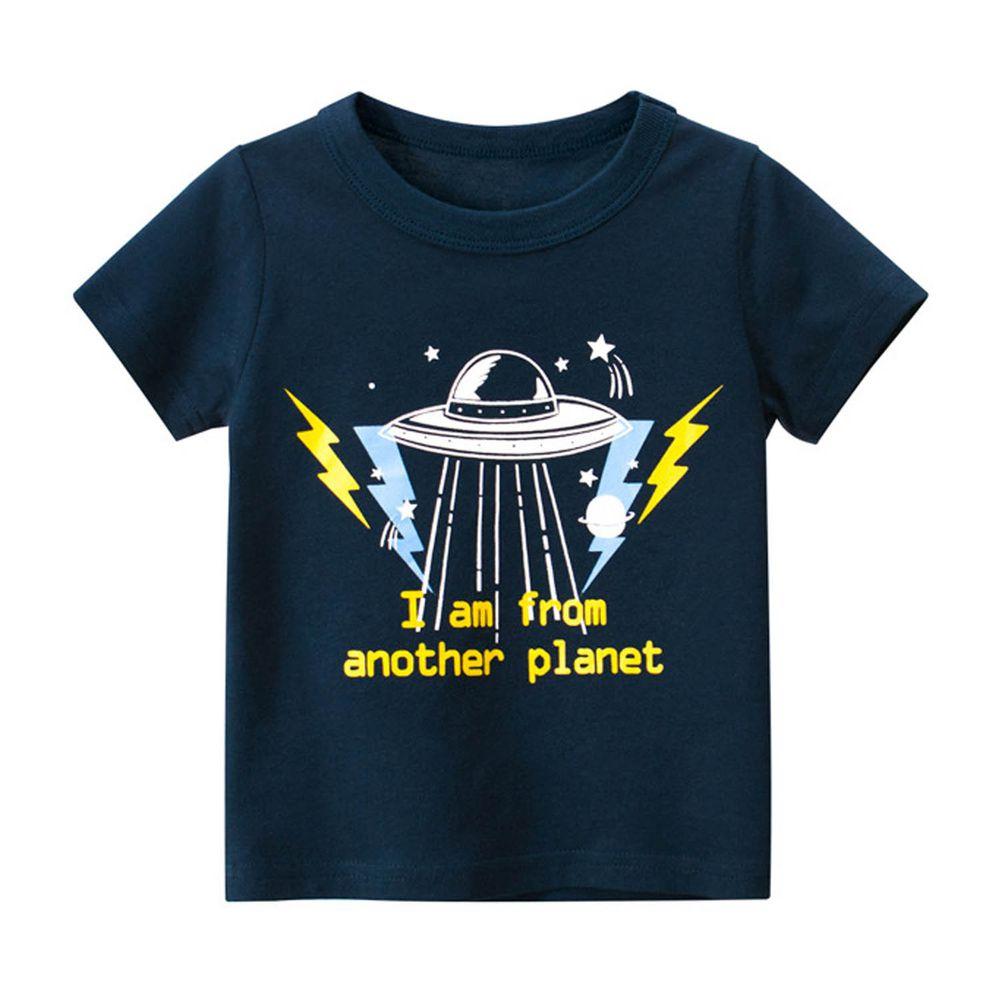 短袖棉T-外星飛碟