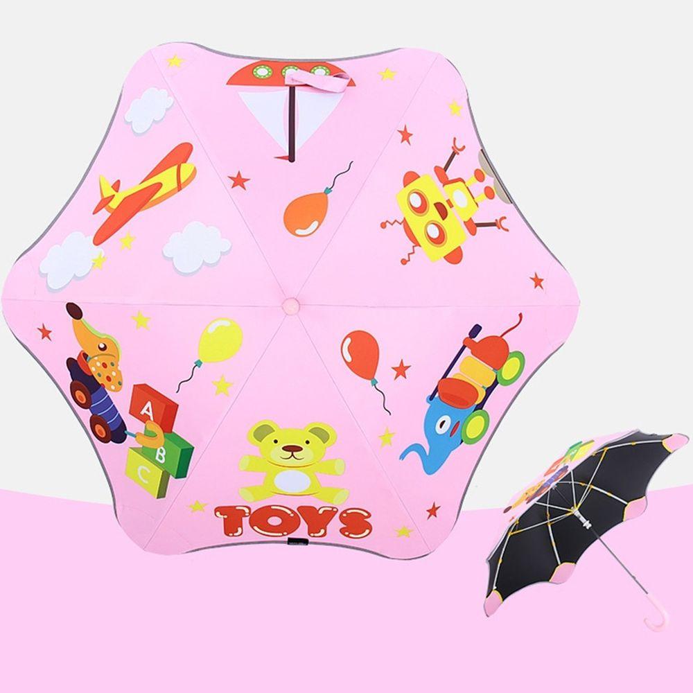 兒童圓角反光雨傘-玩具總動員-粉