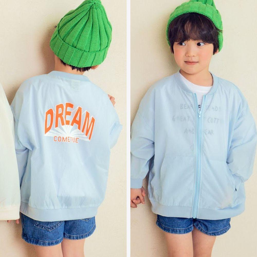 韓國 Hanab - 棉混紡透氣夾克-天藍