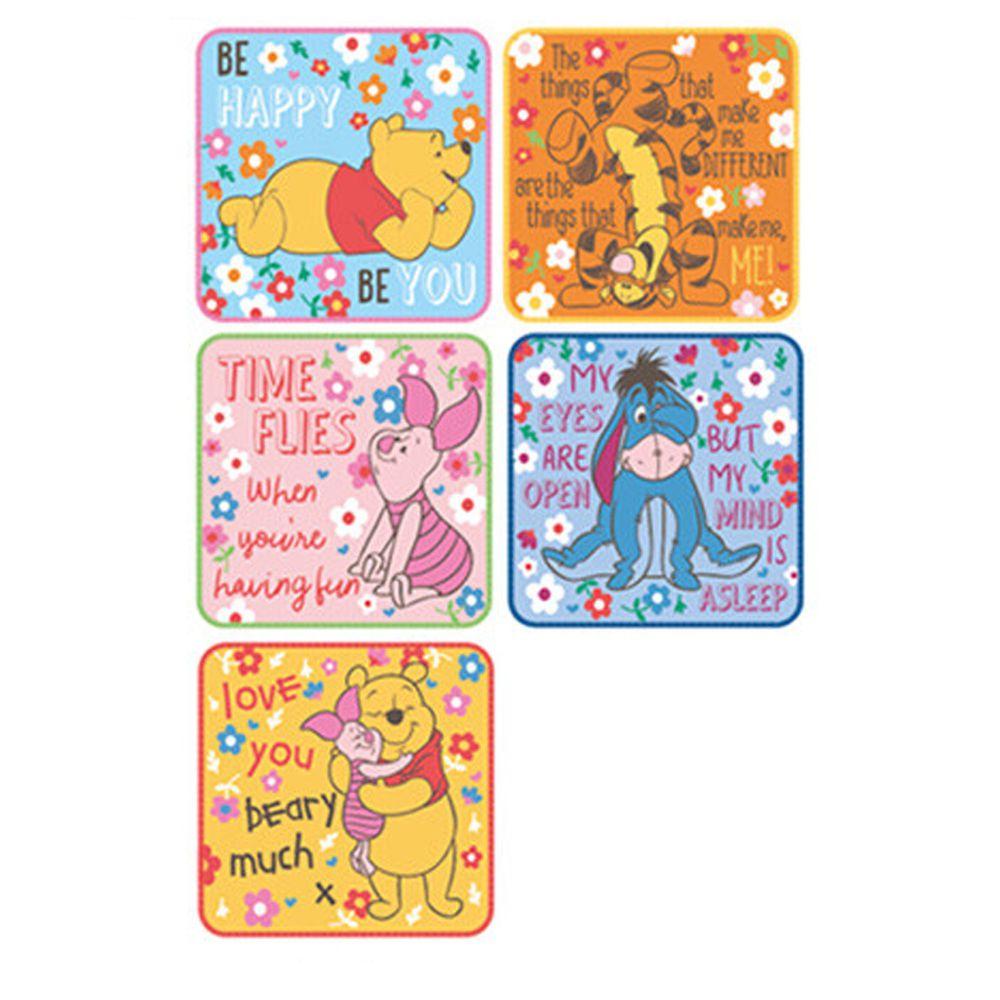 日本代購 - 卡通方形小手帕五件組-維尼好朋友 (15x15cm)