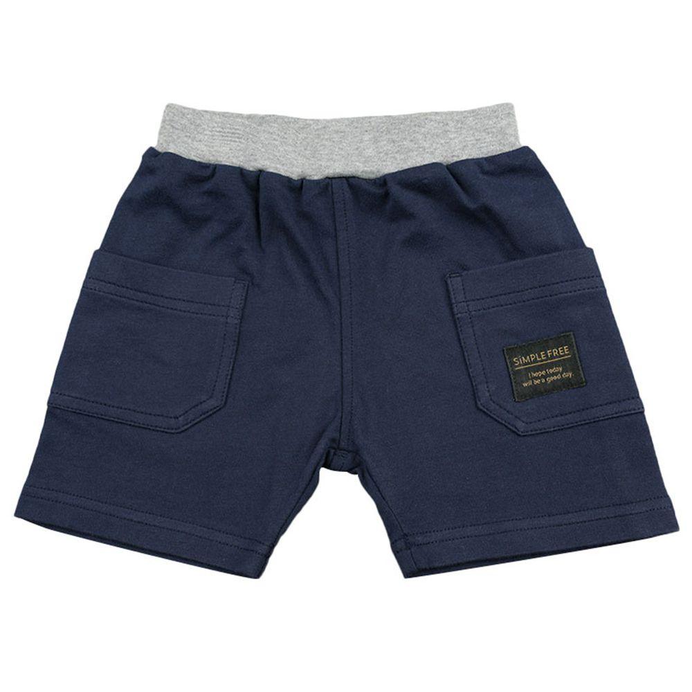 akachan honpo - 短褲-側邊口袋-深藍色