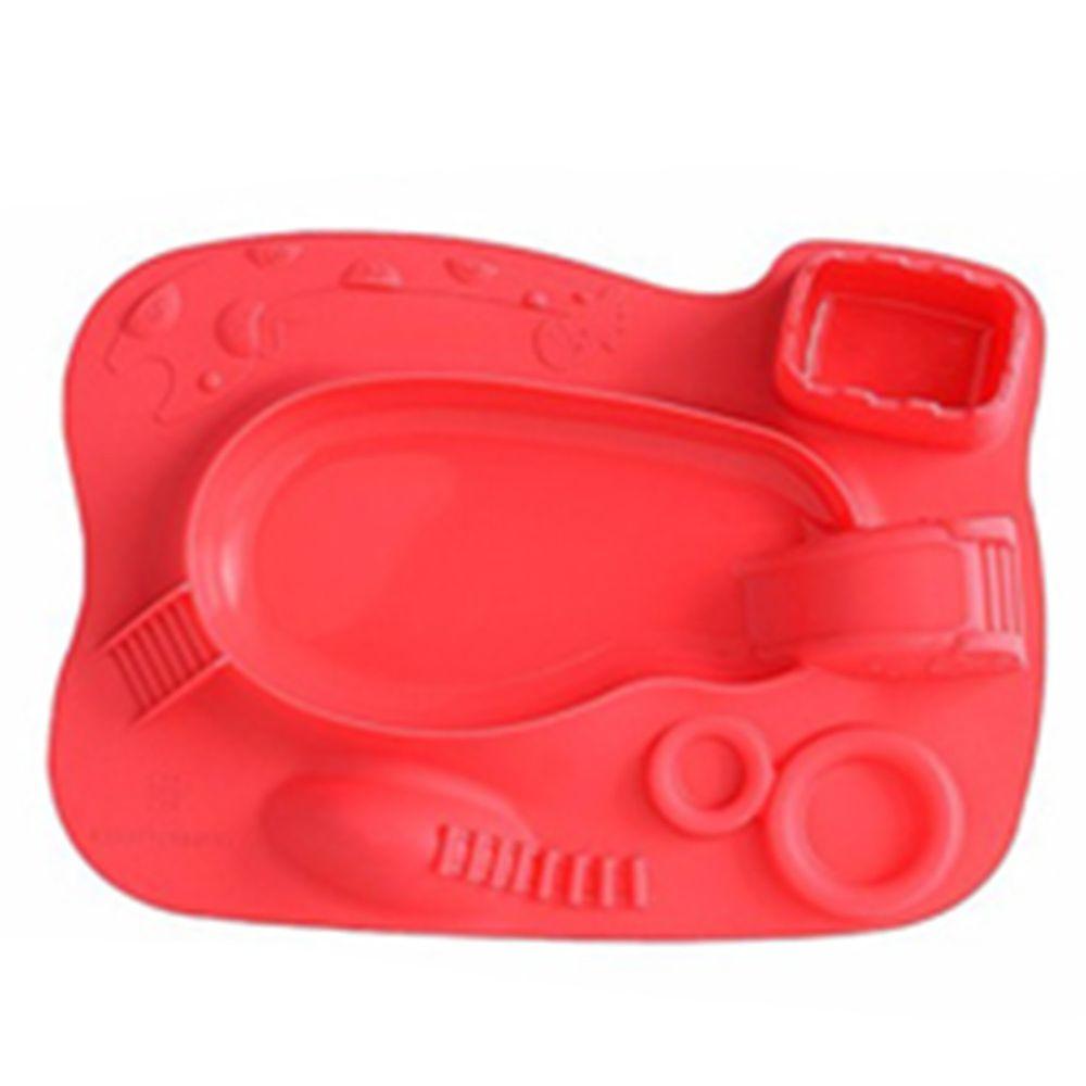 MARCUS&MARCUS - 動物樂園遊樂造型餐盤-紅色