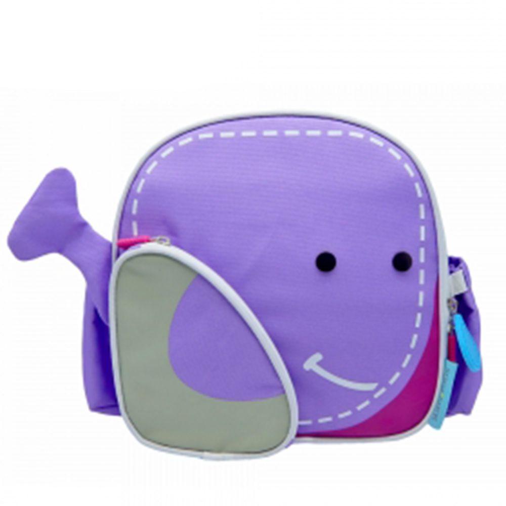 MARCUS&MARCUS - 動物樂園兒童保溫野餐背包-紫鯨魚