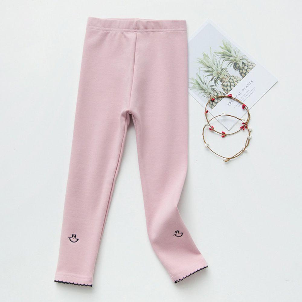 FANMOU - 內搭褲-笑臉-粉色