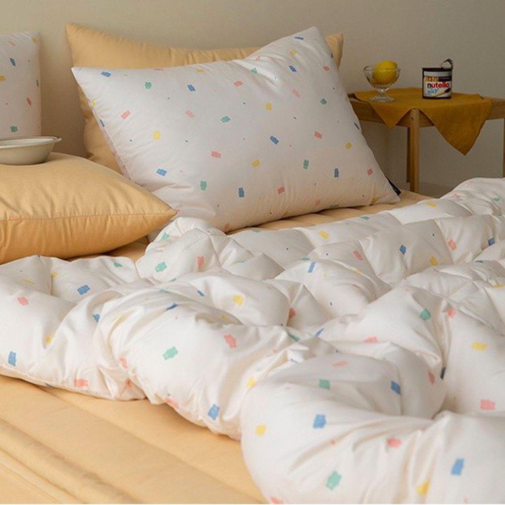 韓國製 - 可水洗超細纖維桃皮感棉被(無枕套)-軟糖熊熊