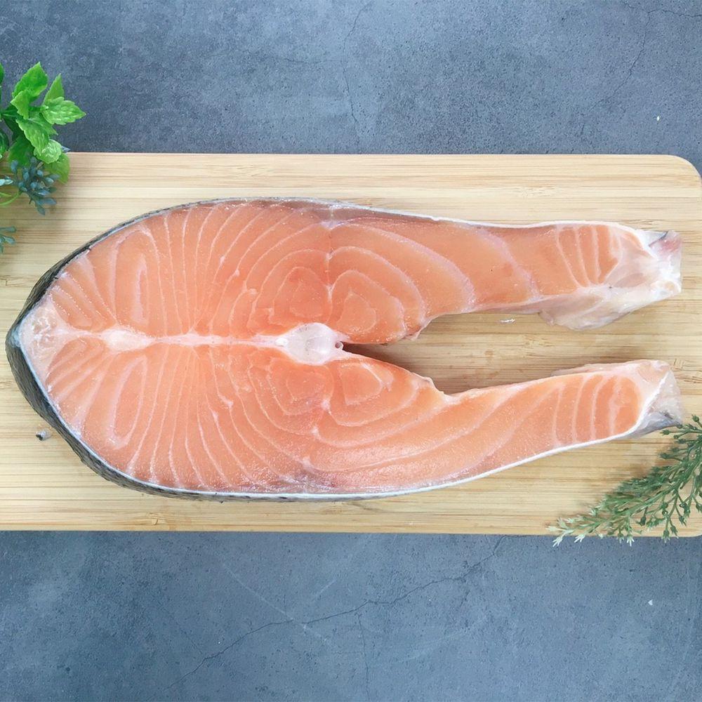 Camaron卡馬龍 - 嚴選-智利極凍厚切鮭魚(大) 500公克/片