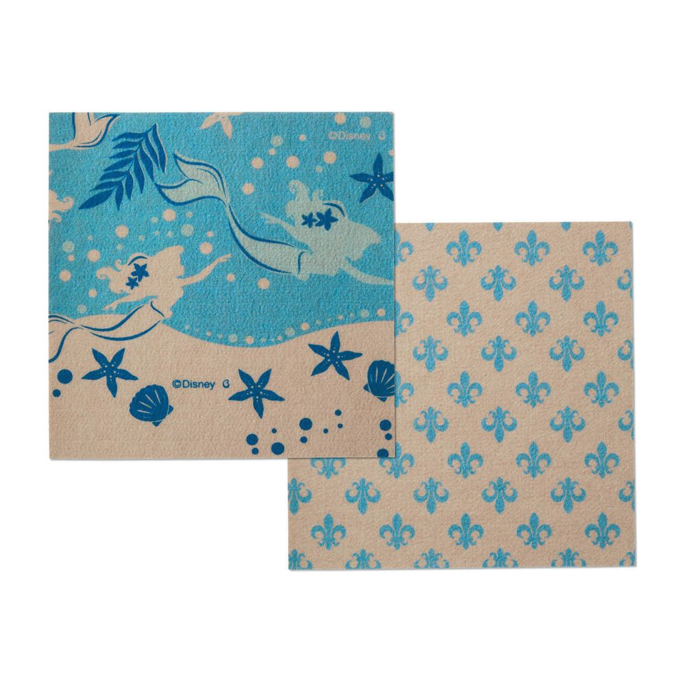 日本千趣會 - 迪士尼 日本製室內輕薄地毯(可機洗)-小美人魚 (30x30cm)-各色2枚(共6枚)