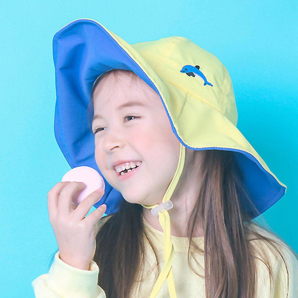 韓國 Babyblee - 雙色可塑型遮陽帽-黃/藍 (頭圍:52cm)